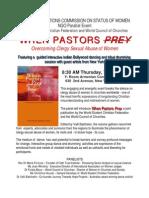 UN--When Pastors Prey Book Release Announcement