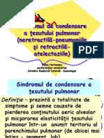 Sindromul de Condensare a Tesutului Pulmonar - Neretractila-Pneumoniile Si Retractila-Atelectaziile