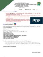 Worksheet 1 - 11th Grade