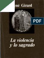 La Violencia y Lo Sagrado Girard