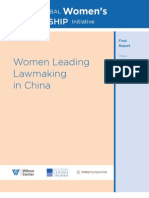Women Leading Lawmaking in China