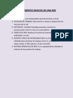 Componentes Basicos de Una Red