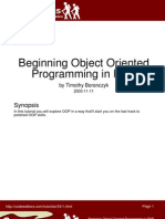 Beginning Object Oriented Programming in PHP