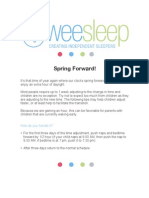 Spring Forward- Sleep Tips