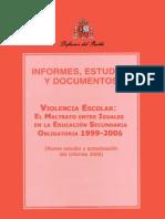 Informe violencia escolar