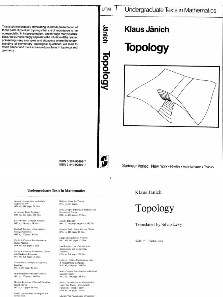 Janich Topology Ch1-2