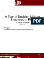 A Tour of Decision Making Structures in PHP