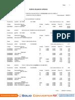 Costos Unitarios Pistas y Veredas