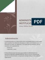 Gestión institucional