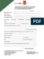 2013 Summer Scholarship Application