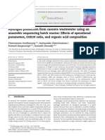 Hydrogen Production From Cassava Wastewater Using an Anaerobic Sequencing Batch Reactor Effects of Operational Parameters, CODN Ratio, And Organic Acid Composition 2010