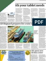 GB Shipyard prepares for cruise ships