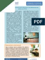 ARTÍCULO - La importancia de la educación y las deficias en el Perú