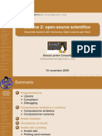 Seconda Lezione SoftwareFisica Opensource