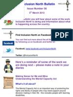 Inclusion North Bulletin 36