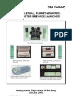 gta 19-08-005 nonlethal grenade launcher