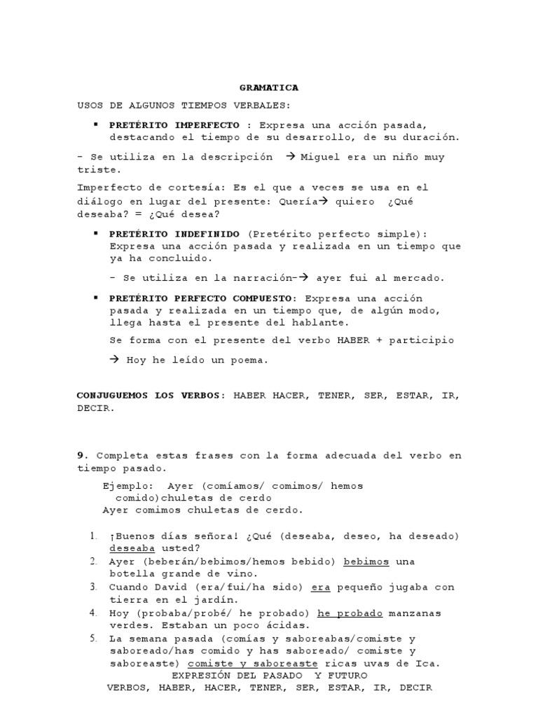 Gramatica De Español