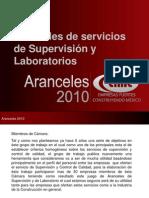 Aranceles Supervision y Laboratorio