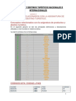 PRODUCTOS Y DESTINOS TURÍSTICOS NACIONALES E INTERNACIONALES