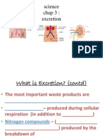 Excretion Science Form 3 Chapter 3