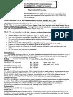 Summer Camp Registration Information