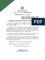 Projeto de Lei - IPRS