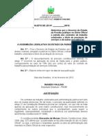Projeto de Lei 10.2012 Contratos