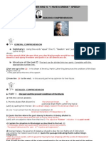 I Have a Dream READING Worksheet Answer Key