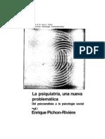 Enrique Pichon-Rivière - La Psiquiatría una nueva problemática