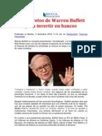 Secretos de Warren Buffett Para Invertir en Bancos