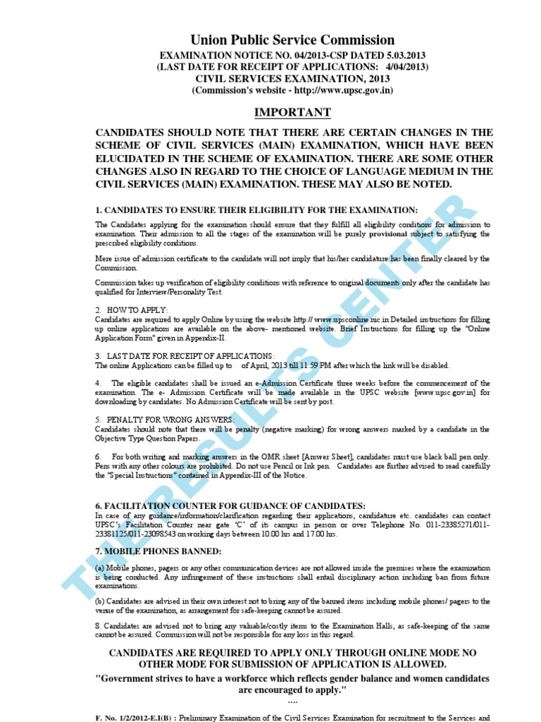 Upsc Civil Services Examination Notification 2013 University And Band Spectrum Analyzer Circuit Using Op Amps Scorpionz College Admission Test Assessment