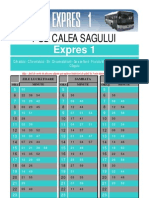 Program Expres 1 Pod Calea Sagului