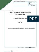 IMCO-PQC-002 - Procedimiento de Control Topografico