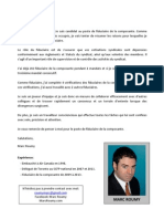 March Election - Resume - Marc Roumy - FR