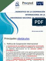 Diagnostico de la cooperación internacional en la uni