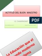 Actitud Del b. Maestro- IE Champagnat-2013