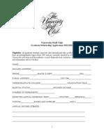 University Staff Club APPLICATION 2013