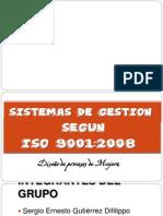 Los Sistemas Gestión de la Calidad ISO 9001:2008