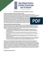 Dolor - Cancer