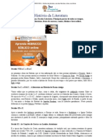 LITERATURA - História da Literatura, escolas literárias, obras, escritores