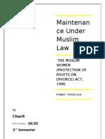 Maintenance Muslim Law Project
