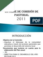 INFORME DE COMISIÓN DE PASTORAL