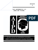 Army Basic Mathematics III Area and Volume