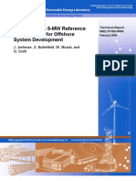 Definition of a 5-MW Reference Wind Turbine for Offshore System Development