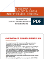 Sub-Recipient DBE Plan - Pub