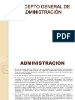 CONCEPTO GENERAL DE ADMINISTRACIÓN1
