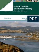 Porirua Harbour Subtidal Sediment Quality Monitoring Results From November 2008 Survey