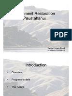 Porirua Harbour Seminar Series - Pres 8 - Pauatahanui Revegetation