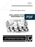Army Intelligence Officer Responsibilities