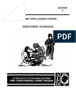 Army Interrogation Questioning Techniques